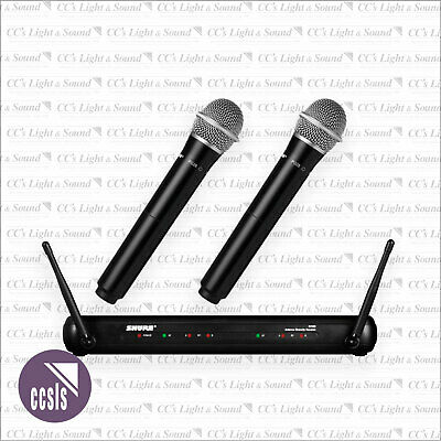 Shure SVX288PG28 Wireless 2-Channel Microphone System with 2x PG28 Handheld Mics