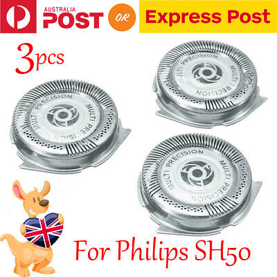 3Pcs Shaver Heads Replacement Blades Fit For Philips Series 5000 SH50 SH51 HQ8