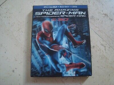 THE AMAZING SPIDER-MAN rare 4 DISC 3D Blu-ray + Blu-ray LENTICULAR slipcover DVD