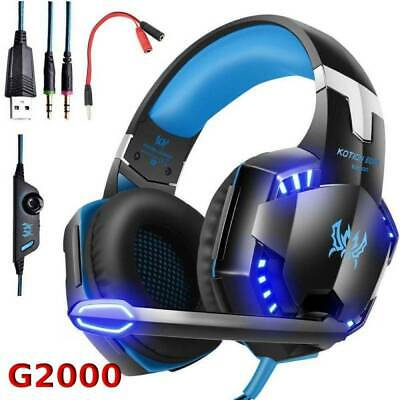 G2000 Stereo Bass Surround Gaming Headsets for PS4 Xbox One PC with Mic LED HC
