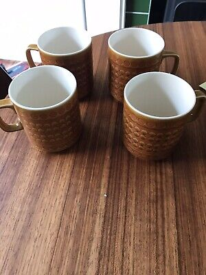 Hornsea Pottery 6 Mugs Perfect Condition