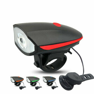 2in1 USB Rechargeable LED Bicycle Bike Cycling Front Lamp Headlight w/ Bell Horn