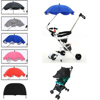 Universal Baby Sun Umbrella Parasol Pram Pushchair Canopy Protect From Sun Rain