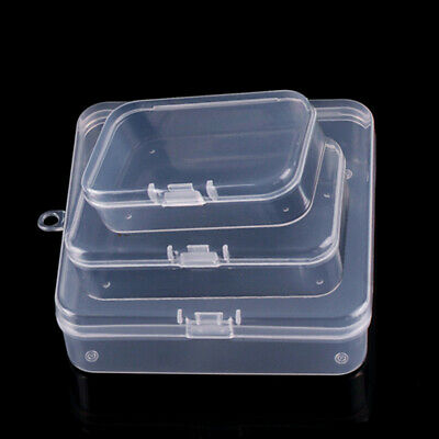 10PCS Clear Plastic Storage Box Jewelry Earplugs Case Container Bead Organizer