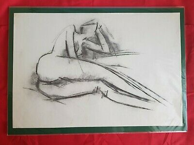 Peter Collins ARCA Unsigned Study of Nude Reclining Female