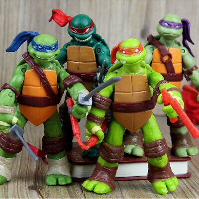 Teenage Mutant Ninja Turtles 4PCS Classic Action Figure Collection Kids Toy Gift