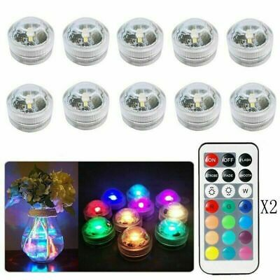 10X Waterproof Remote Control Colored LED Light Boundary Style EFX Accent