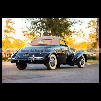 #pha.025677 Photo CORD 812 SUPERCHARGED CONVERTIBLE COUPE 1937 Car Auto