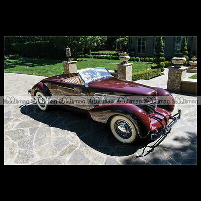 #pha.025705 Photo CORD 812 SUPERCHARGED CONVERTIBLE COUPE 1937 Car Auto