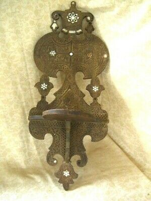 """Indian Hand Carved Wooden Display Shelf Wall~ Budha Alter ~ 26"""" Long"""