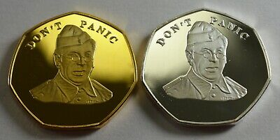 Pair of Brand New BREXIT Commemoratives 'DON'T PANIC' Dads Army Jones Clive Dunn