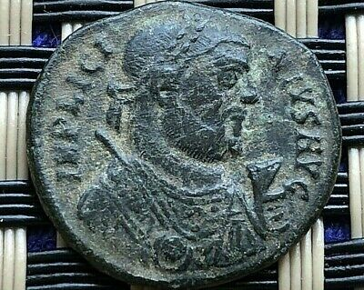 Licinius I 308-324 Ad Ad Ae Follis Camp Gate Ancient Roman Coin