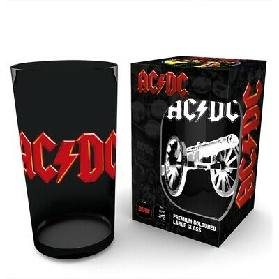 Official Acdc Logo Cannon Black Drinking Glass Tumbler New In Gift Box (Gb)