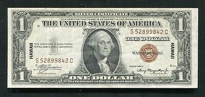 """Fr. 2300 1935-A $1 One Dollar """"Hawaii"""" Silver Certificate Extremely Fine"""