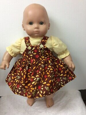 New Doll Outfit Fits American Girl Bitty Baby 2 Piece Cotton Jumper Set Handmade