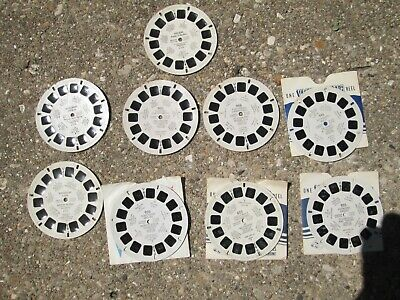 Vintage 1950's-1960's View-Master Lot of 9 Reels Entertainment & Television Star