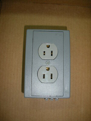 Hubbell DRUB15 din rail mounted receptacle gray