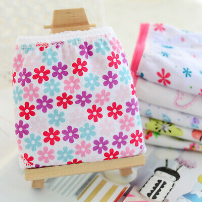 6pcs Kids Baby Girls Panties Printed Briefs Cotton Underwear Soft Underpants