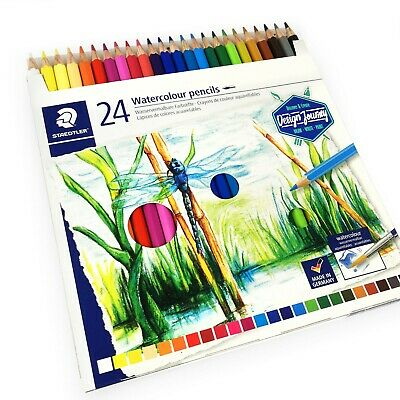 Staedtler Watercolour Aquarell Pencils - Design Journey - Wallet of 24 Colours