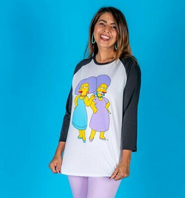 Official The Simpsons Patty and Selma Baseball T-Shirt