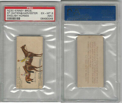 N230 Kinney, English Horses, 1889, St. Gatien & Harvester, PSA 6 MC EXMT