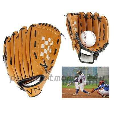 Fastpitch Baseball Softball Left Hand Glove PVC Leather 10.5-12.5 Inch