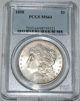 1898-P Morgan Silver Dollar $1 PCGS MS64 Full White