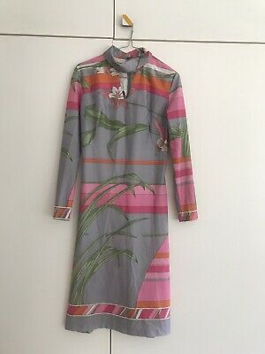 Vintage Psychadelic 60's Shift Dress Size 10 Mod