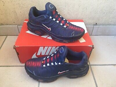 newest fb937 abff6 TN NIKE AIR Max Plus PSG Paris Football Taille 42 Size 8,5 Très Usée  Portable