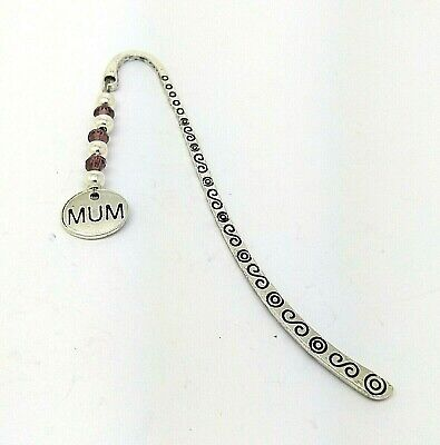 Mum Purple Crystal Faceted Birthday Christmas Gift Bookmark