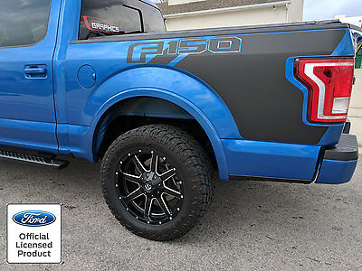 New 2017 2019 Ford F-150 Bed Graphics W/ Logo Side Decal Vinyl Stripes Stickers