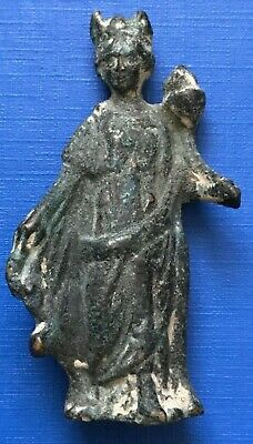 Ancient Gallo Roman Bronze Statuette of Goddess Fortuna 1st Century AD #660