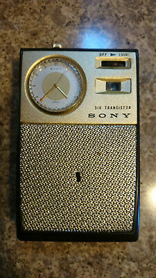 Sony TRW 621 Transistor Radio/Seiko Watch With Leather Cover, Partly Working