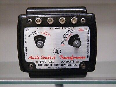 lionel vintage 1033 90 watt transformer with reproduction box works very  well