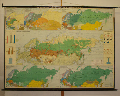 Wall Map Russia Grossmacht against Mongols Poland French Deutsche 255x189cm