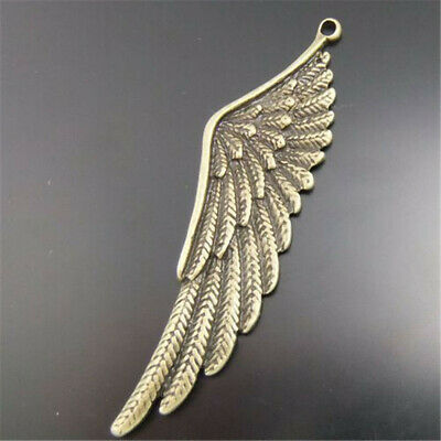 Antique Bronze Alloy Bird Feather Pendants Charms Crafts Findings 20pcs 02065