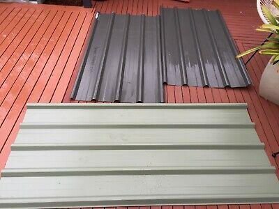Roofing metal, 3 small sheets. 2 x 1,545mm, 1 x 1,795mm. Suit kennel, aviary etc