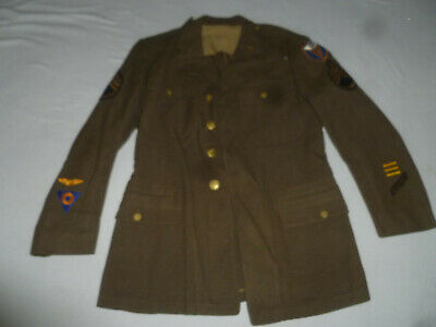 Vintage Wwii Us Army Dress Jacket Staff Sgt 4Th Error Corps Mechanic Trade
