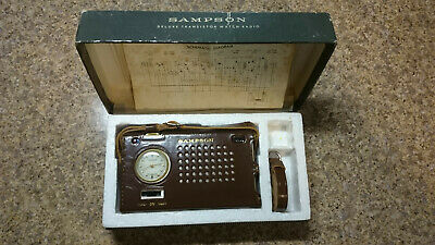Sampson SC4000 Transistor Radio/Beaumont Watch With Leather Cover, Box & Diagram