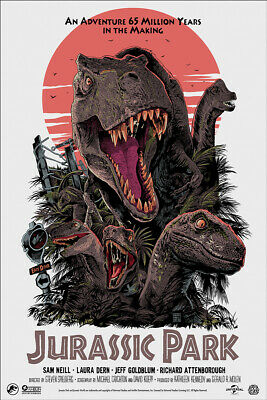SDCC 2019 Mondo Jurassic Park variant print by Francesco Francavilla numbered