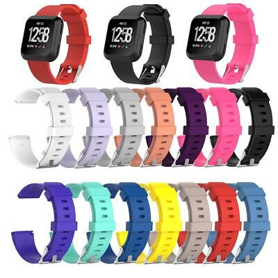 Soft Silicone Sport Wristband Watch Band Strap Belt for Fitbit Versa Smart Watch