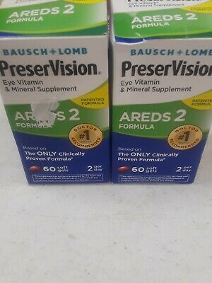 Open Box !New BAUSCH + LOMBPreserVision AREDS 2 Formula120 SoftGels 2 60ct box