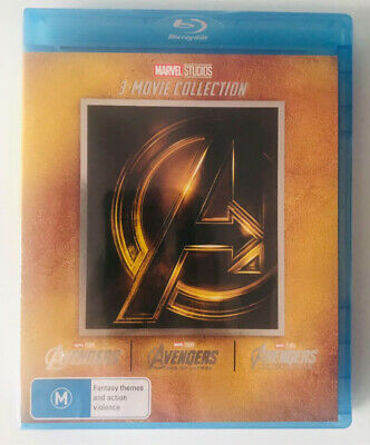 Avengers 1-3 Blu-ray Set The Complete Marvel Trilogy 1 2 3 Movie Collection New