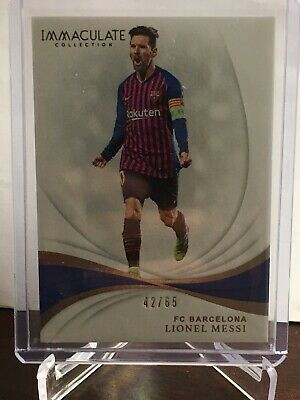 2018-19 Immaculate Lionel Messi Base Barcelona 42/65