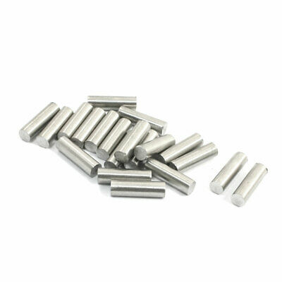 20Pcs Stainless Steel 10mm x 3mm Round Rod Stock for RC Airplane Model