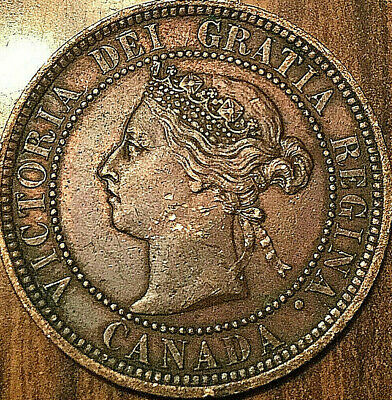 1888 CANADA LARGE CENT PENNY 1 CENT - Nicer example!