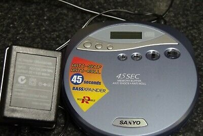 SANYO CDP-4500 Portable Compact Disc Player - Personal CD Walkman
