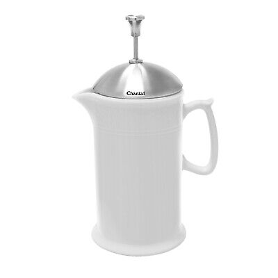 Chantal 28 ounce Ceramic French Press with Stainless Plunger, White