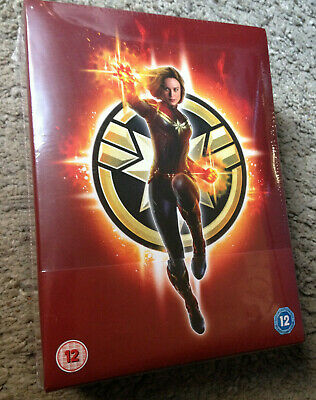 Captain Marvel 3D + 2D Blu-Ray Steelbook & Light Up Box Set - Zavvi Ltd Edition