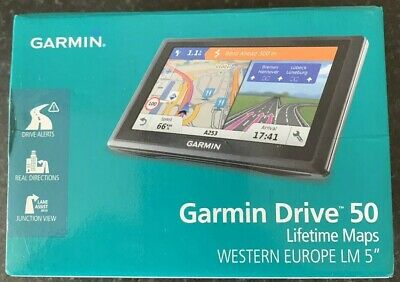 Garmin Drive 50 GPS Sat Nav With Free Lifetime UK & Western Europe Maps LM 5